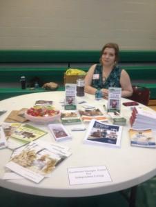 Our table at the Dalton Senior Fair!